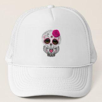 Gorra De Camionero Día rosado del búho muerto del bebé