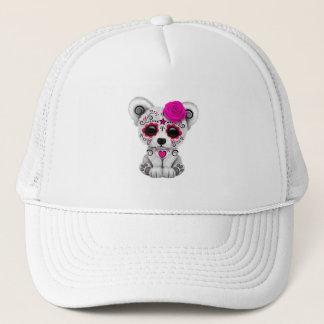 Gorra De Camionero Día rosado del oso polar del bebé muerto