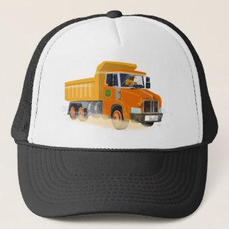 Gorra De Camionero Dibujo animado amarillo del camión volquete para