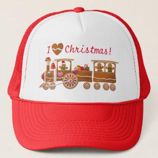 Gorra De Camionero Dibujo animado del tren de las Felices Navidad de