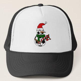 Gorra De Camionero Dibujo animado divertido del navidad del muñeco de