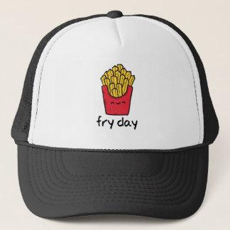 Gorra De Camionero Dibujo animado feliz de las patatas fritas de
