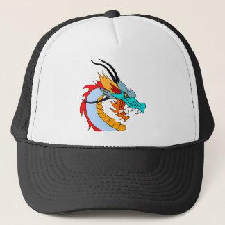 Gorra De Camionero Dibujo de la cara del dragón