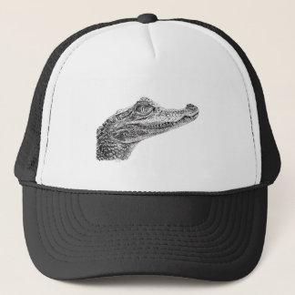 Gorra De Camionero Dibujo de la tinta del cocodrilo del bebé