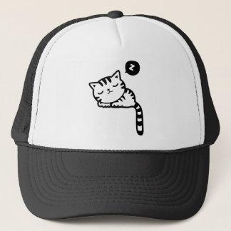 Gorra De Camionero Dibujo del gatito el dormir