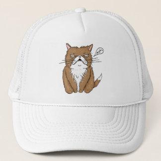 Gorra De Camionero Dibujo gruñón divertido del gato de Meh
