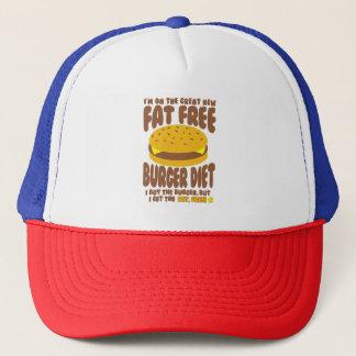 Gorra De Camionero Dieta sin grasa de la hamburguesa