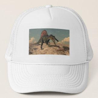 Gorra De Camionero Dinosaurio de Spinosaurus que caza una serpiente