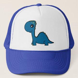 Gorra De Camionero Dinosaurio lindo del bebé azul