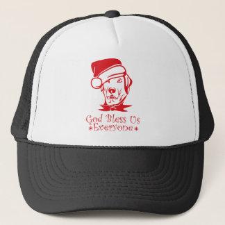 Gorra De Camionero Dios del perro del navidad nos bendice cada uno
