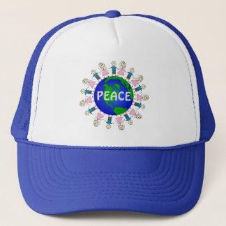 Gorra De Camionero Diseño adorable de la PAZ de mundo de los niños