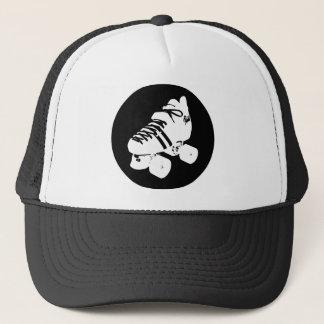 Gorra De Camionero Diseño blanco y negro del patín de derby del