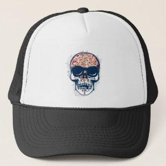Gorra De Camionero diseño coloreado zombi muerto del cráneo