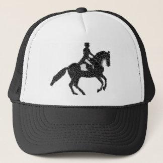 Gorra De Camionero Diseño del mosaico del caballo y del jinete del