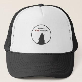 Gorra De Camionero Diseño feliz de Halloween del hombre lobo del