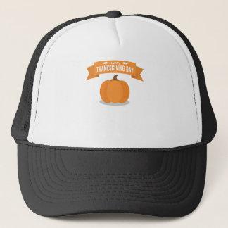 Gorra De Camionero Diseño feliz de la calabaza del día de la acción