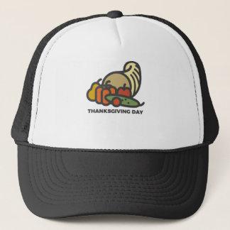 Gorra De Camionero Diseño feliz de la cornucopia del día de la acción