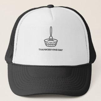 Gorra De Camionero Diseño feliz de la empanada de la bifurcación del