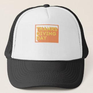 Gorra De Camionero Diseño feliz del día de la acción de gracias