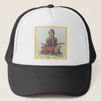 Gorra De Camionero Diseño floral de la meditación de Sha Davis