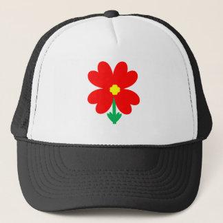 Gorra De Camionero Diseño floral del corazón