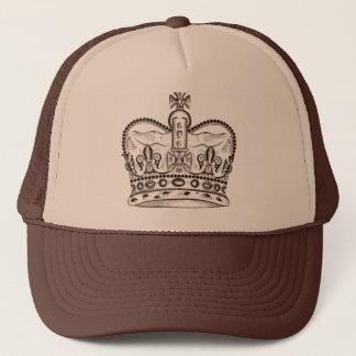 Gorra De Camionero Diseño real con la corona en estilo del vintage