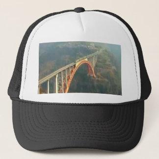Gorra De Camionero Diseño trasero - puentes, capas verdes del bosque