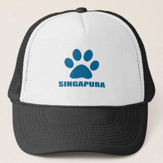 GORRA DE CAMIONERO DISEÑOS DEL CAT DE SINGAPURA