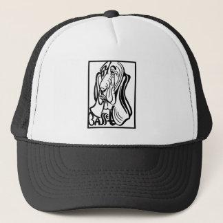 Gorra De Camionero Doodle del perro de Basset Hound