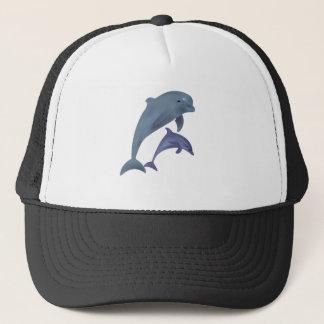 Gorra De Camionero Dos delfínes tropicales que saltan al lado de uno