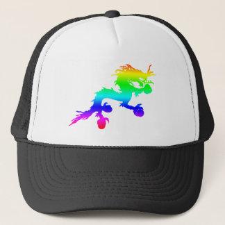 Gorra De Camionero dragón del arco iris