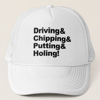 Gorra De Camionero Driving&Chipping&Putting&Holing (negro)