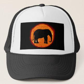 Gorra De Camionero Eclipse solar del elefante