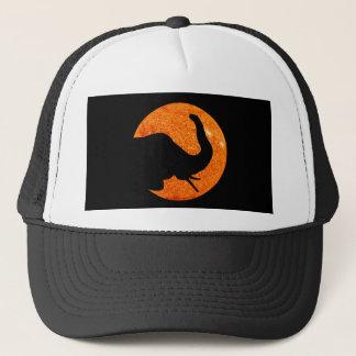 Gorra De Camionero Eclipse solar del perfil del elefante
