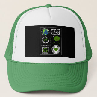 Gorra De Camionero Eco amistoso va tierra verde del planeta del amor