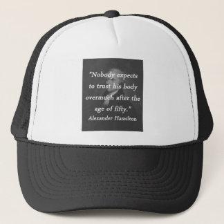Gorra De Camionero Edad de cincuenta - Alexander Hamilton