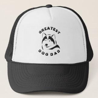 Gorra De Camionero Ejemplo negro del texto y del perro del papá del