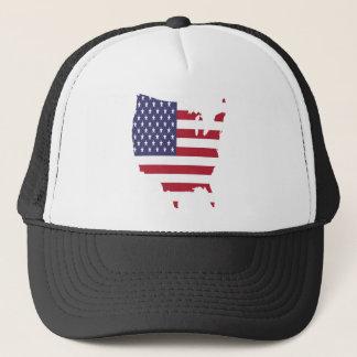 Gorra De Camionero el arte de América confina la bandera de país de