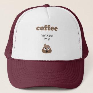 Gorra De Camionero El café divertido me hace frase del emoji del