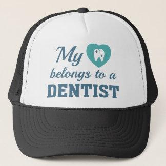 Gorra De Camionero El corazón pertenece dentista