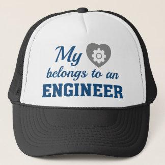 Gorra De Camionero El corazón pertenece ingeniero