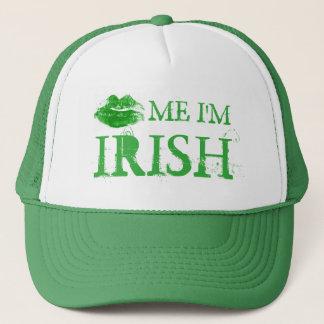 Gorra De Camionero El día de St Patrick me besa que soy labios verdes