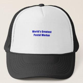 Gorra De Camionero El empleado de correos más grande de los mundos