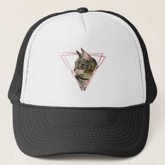 Gorra De Camionero El gato de Tabby con falso se ruboriza marco