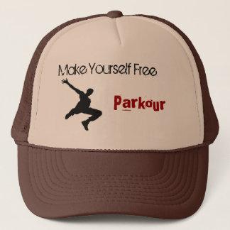 Gorra De Camionero el hombre del parkour, se hace libre, Parkour