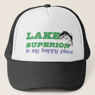 Gorra De Camionero El lago Superior es mi lugar feliz
