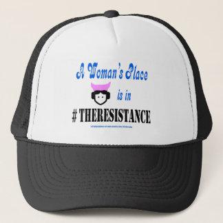 Gorra De Camionero El lugar de una mujer está en #TheResistance