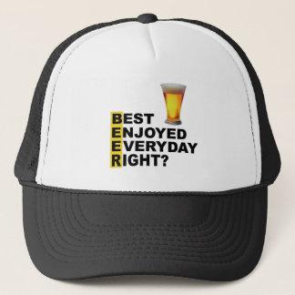 Gorra De Camionero ¿El mejor de la cerveza disfrutó de la derecha