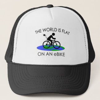 """Gorra De Camionero """"El mundo es"""" casquillos de ciclo planos"""