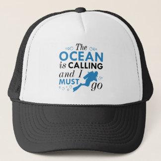 Gorra De Camionero El océano está llamando